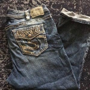 Silver Suki Crop Jeans Plus size 18
